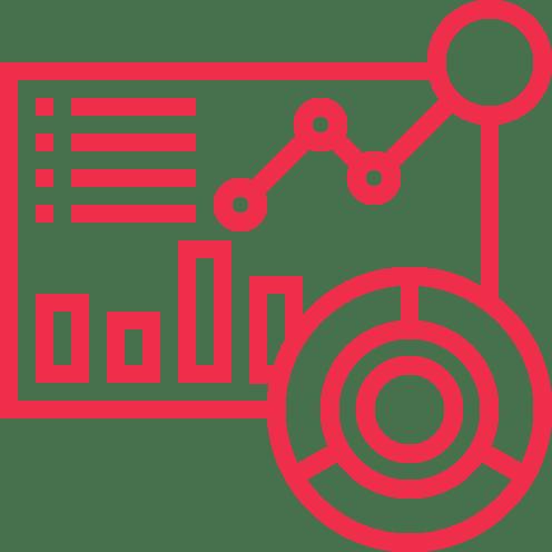 LJV CPA | Icône rouge détouré de graphiques