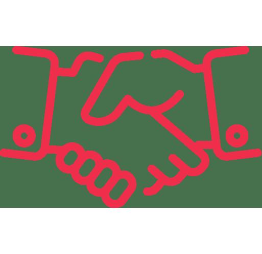 LJV CPA | Icône rouge détouré d'une poignée de mains